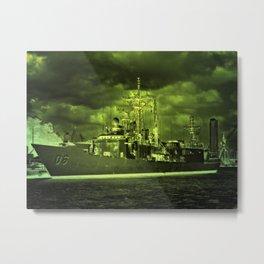 The warship Metal Print