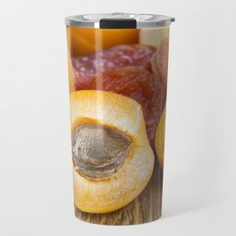 dried and fresh apricots Travel Mug