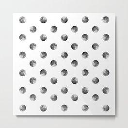 Lunar Moon - white Metal Print