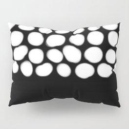Soft White Pearls on Black Pillow Sham