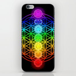 Flower of Life with Chakras iPhone Skin