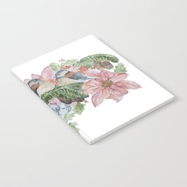 Watercolor Birds and Flowers Notebook