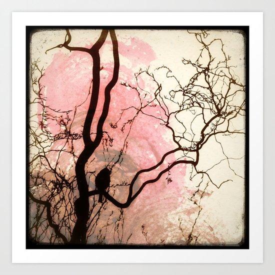 L'oiseau sur l'Arbre Art Print