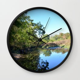 Where Canoes and Raccoons Go Series, No. 28 Wall Clock