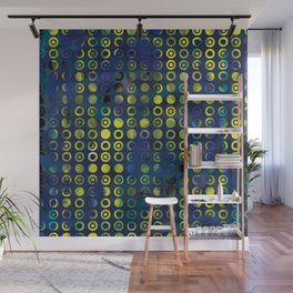 gold&blue Wall Mural