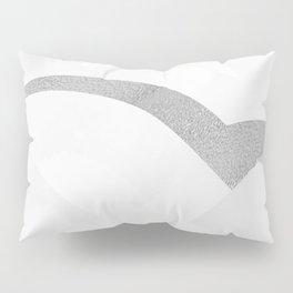 Silver Streak White Pillow Sham