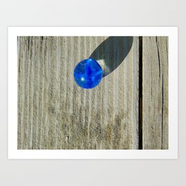 Marble on wood Art Print