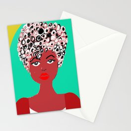 Girl with the curlz Stationery Cards