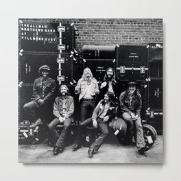 At Fillmore East (Live) 1971 by The Allman Brothers Band - Vectorized Metal Print