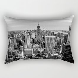 New York City B&W Rectangular Pillow