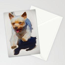 Poppy My Yorkie (Digital Art) Stationery Cards