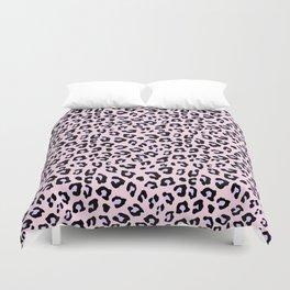 Leopard Print - Lavender Blush Duvet Cover