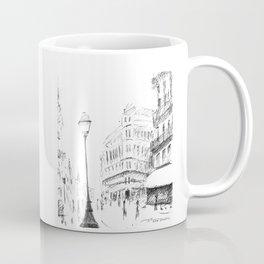 Sketch of a Street in Paris Coffee Mug