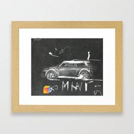 Car scribble sketch mini Framed Art Print