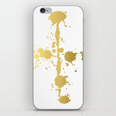 Golden abstract #3 iPhone Skin