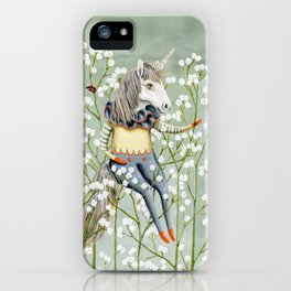 Harold the unicorn iPhone Case