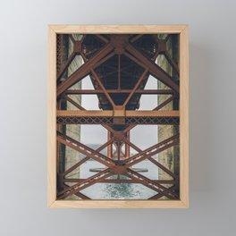 Golden Gate Backbone, San Francisco Framed Mini Art Print