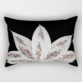 Gray Agave with Rose Gold Glitter #2 #shiny #tropical #decor #art #society6 Rectangular Pillow