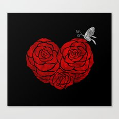 A Butterfly to be, a Rose to blossom... Canvas Print