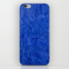 Dark Blue Stucco - Rustic Glam iPhone & iPod Skin