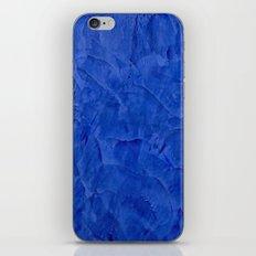 Dark Blue Stucco - Rustic Glam iPhone & iPod Skin