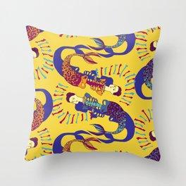Sirenas - Gold - Beautiful Bones Throw Pillow