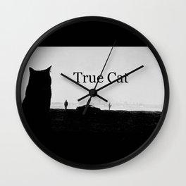 True Cat Wall Clock