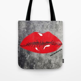 Kiss Me Scarlett Tote Bag