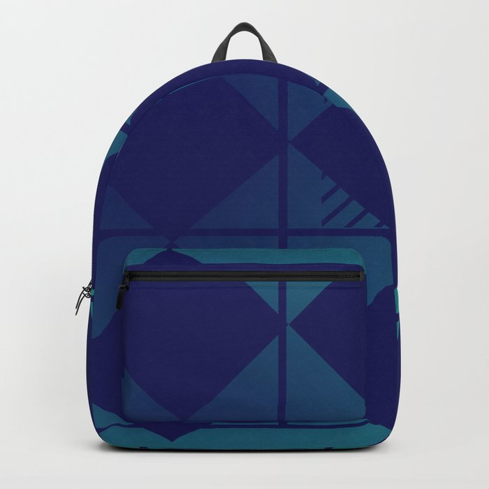 Blue,Diamond Shapes,Square Backpack