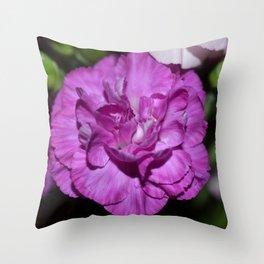 Lilac carnation Throw Pillow