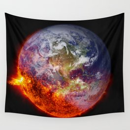 Global Warming Climate Change Wall Tapestry
