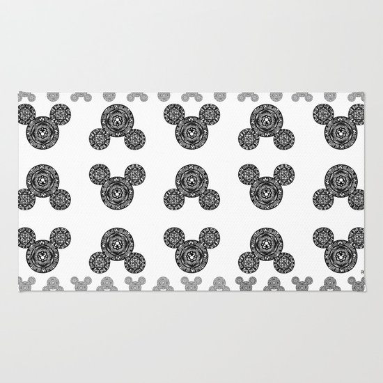 Mickey Mouse Mandala Rug By Brietron Art Society6