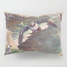 Cliffside Puffins Pillow Sham