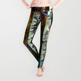 Enchanted Forest with Birch Trees  Leggings