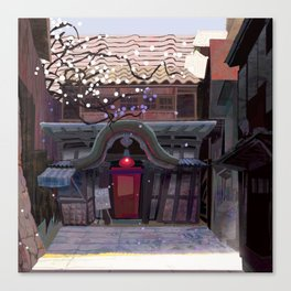 Kyoto Cafe from Red Festival Book Canvas Print