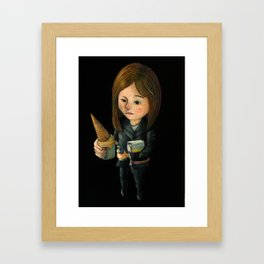 Hello Melted Coffee Ice Cream Framed Art Print