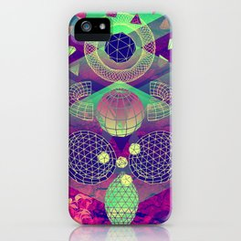 'Active Contours' Illustration by Hannah Stouffer iPhone Case