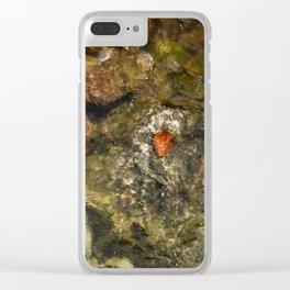Leaf in a burn Clear iPhone Case