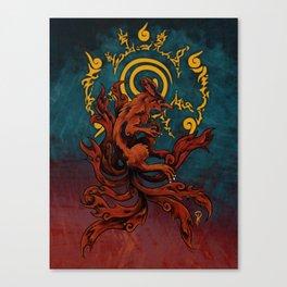 Kurama and Seal Canvas Print