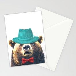 Funny Bear Illustration Stationery Cards
