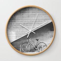Bike and lines Wall Clock