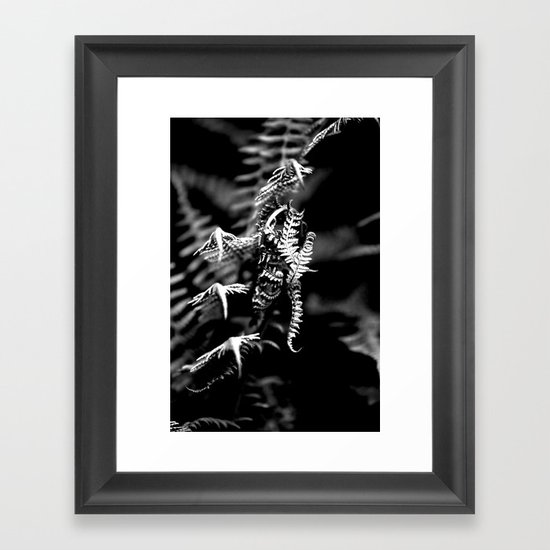 Dragons in the Ferns Framed Art Print