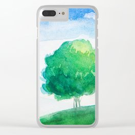 Mountain scenery 4 Clear iPhone Case