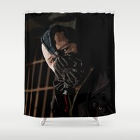 bane Shower Curtains featuring Permission to Die by AdamAether