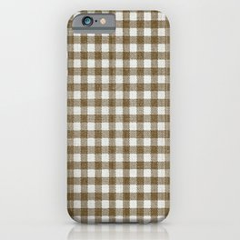 Chestnut Brown Gingham iPhone Case