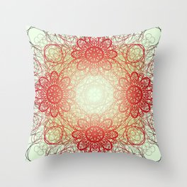 Symmetry 9: Summer Day Throw Pillow