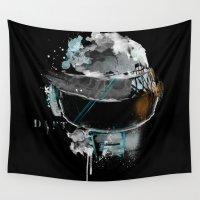 daft punk Wall Tapestries featuring Daft Punk - SILVER by I AM DIMITRI