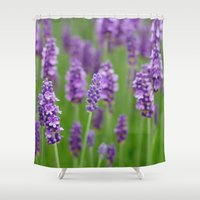 lavender Shower Curtains featuring lavender by GISMANA