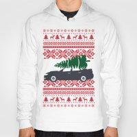 subaru Hoodies featuring Happy Holidays - Subaru Christmas Sweater by E. Phillips - Creative Designer