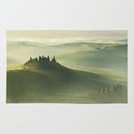 Foggy morning in Toscany Rug
